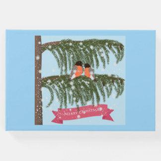 Livro De Visitas Natal, retro, Bullfinches