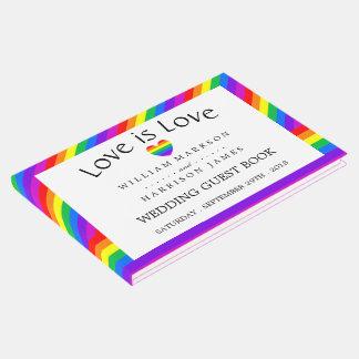 Livro De Visitas O amor do coração do arco-íris é casamento do amor