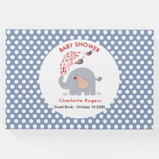 Livro De Visitas O azul irrisório caçoa o chá do bebé do elefante