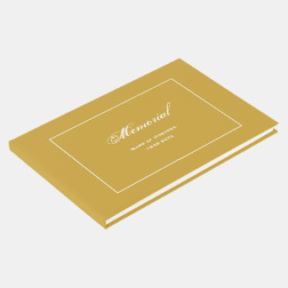 Livro De Visitas Ouro simples, elegante da cerimonia comemorativa