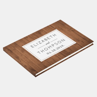 Livro De Visitas - Parede do celeiro, pranchas de madeira - Brown