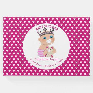 Livro De Visitas Princesa bonito Rega Personalized do bebê dos