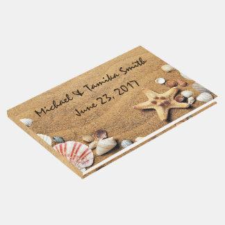 Livro De Visitas Seashells personalizados no casamento de praia