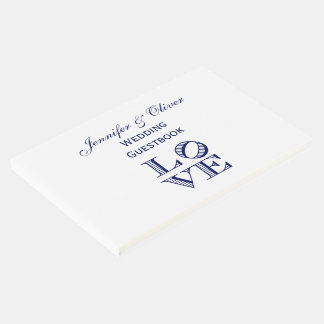 Livro De Visitas Texto gráfico do AMOR - azul