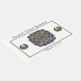 Livro De Visitas Tradicional asiático do art deco Jeweled