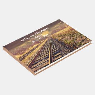 Livro De Visitas Trilhas de estrada de ferro que Wedding o