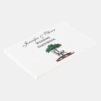 Livro De Visitas Veado dos cervos pelo emblema heráldico da crista