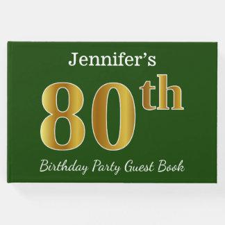 Livro De Visitas Verde, festa de aniversário do 80 do ouro do falso