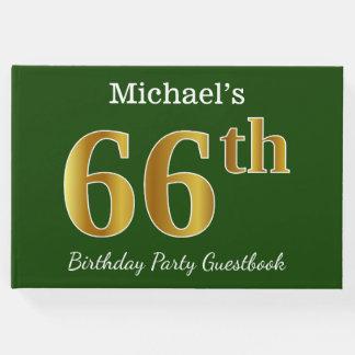 Livro De Visitas Verde, festa de aniversário do ouro 66th do falso