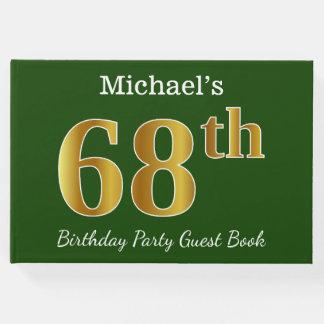 Livro De Visitas Verde, festa de aniversário do ouro 68th do falso