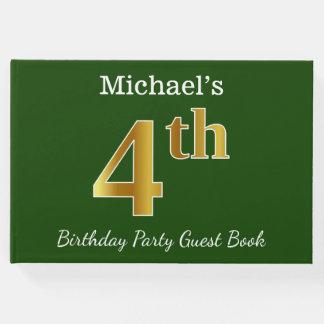 Livro De Visitas Verde, festa de aniversário do ouro do falso 4o +