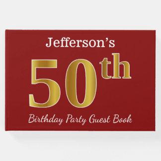 Livro De Visitas Vermelho, festa de aniversário do ouro 50th do