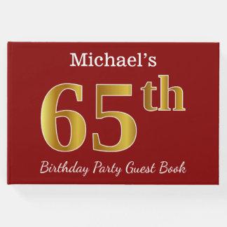 Livro De Visitas Vermelho, festa de aniversário do ouro 65th do