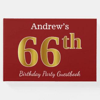 Livro De Visitas Vermelho, festa de aniversário do ouro 66th do