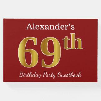 Livro De Visitas Vermelho, festa de aniversário do ouro 69th do