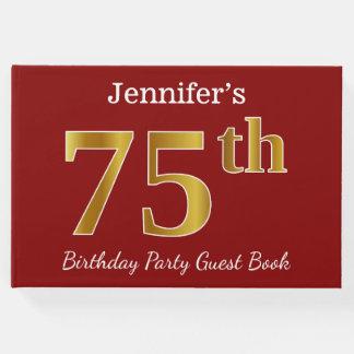 Livro De Visitas Vermelho, festa de aniversário do ouro 75th do