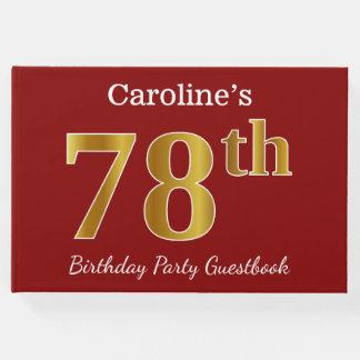 Livro De Visitas Vermelho, festa de aniversário do ouro 78th do