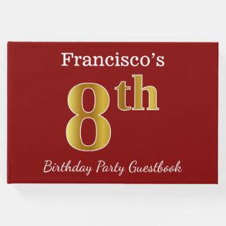 Livro De Visitas Vermelho, festa de aniversário do ouro do falso 8a