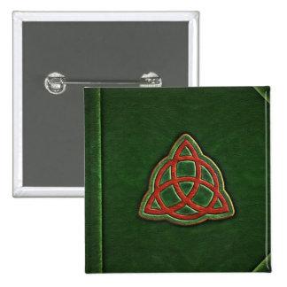 Livro do botão do cobrir das sombras bóton quadrado 5.08cm