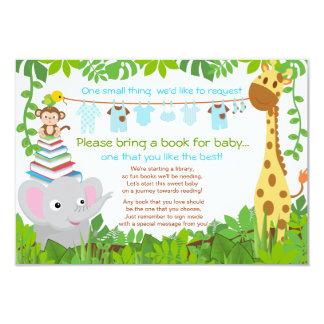 Livro do chá de fraldas do menino do safari dos convite 8.89 x 12.7cm