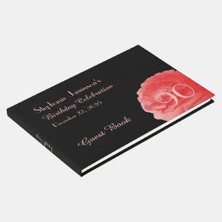 Livro do login da festa de aniversário, rosa coral