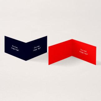 Livro dobrado H do cartão de visita azul escuro -