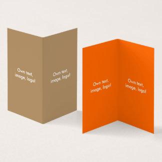 Livro dobrado V do cartão de visita