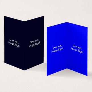 Livro dobrado V do cartão de visita azul escuro -