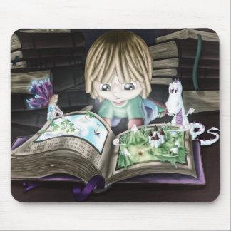 Livro mágico mouse pad