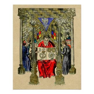 Livro medieval da alquimia poster perfeito