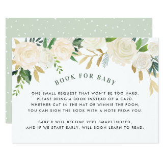Livro para o cartão do pedido do chá de fraldas do