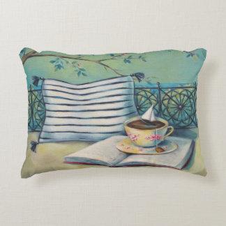 Livro & travesseiro do acento do Teacup Almofada Decorativa