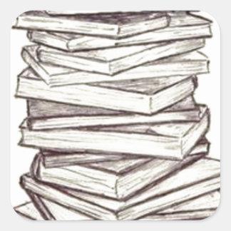 Livros Adesivo Quadrado