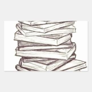 Livros Adesivo Retangular