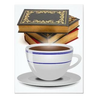 Livros & café: Necessidade eu digo mais? Convite 10.79 X 13.97cm