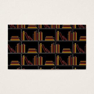 Livros da cor de Brown, de Borgonha e de mostarda Cartão De Visitas