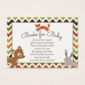 Livros da floresta para a inserção do bebê - cartão de visitas