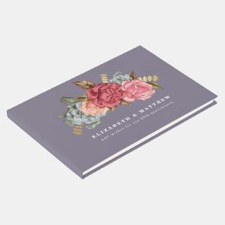 Livros de hóspedes florais do aniversário da