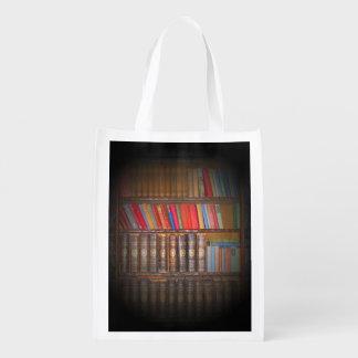 Livros do vintage sacolas ecológicas para supermercado