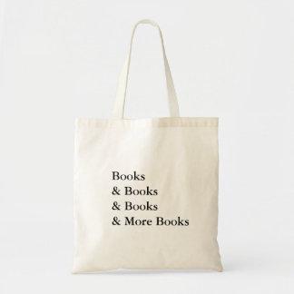 livros e mais livros que lêem o viciado sacola tote budget