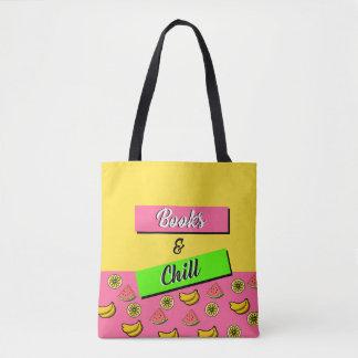 Livros & frio bolsas tote