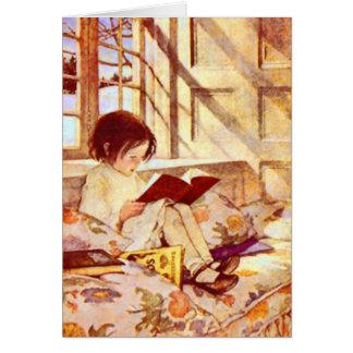 Livros ilustrados no cartão do inverno