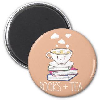 Livros + Ímã do chá Ímã Redondo 5.08cm