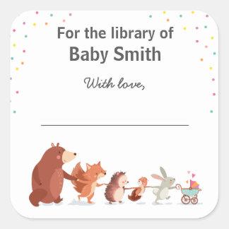 Livros para a biblioteca da etiqueta do bebê para