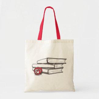 Livros + Uma sacola   de Apple   customizável Bolsa
