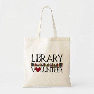 Livros voluntários da biblioteca sacola tote budget