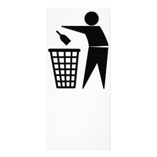 Lixo de jogo afastado (garrafa) 10.16 x 22.86cm panfleto