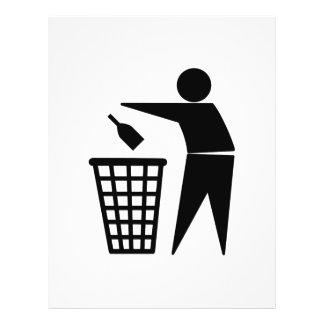 Lixo de jogo afastado (garrafa) panfleto personalizado