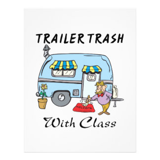 lixo do parque de caravanas com classe panfletos