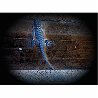 Lizzard azul escultura de foto